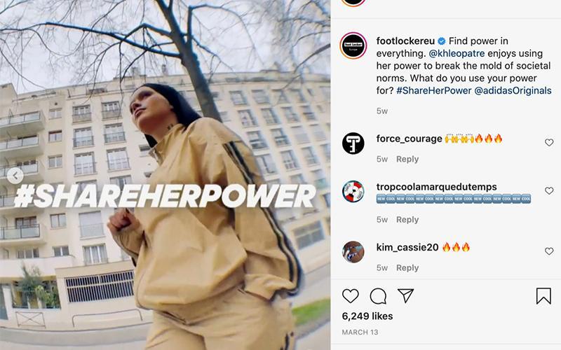 ADIDAS #SHAREHERPOWER Instagram